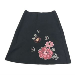 Speechless Women's Black Floral Skirt M